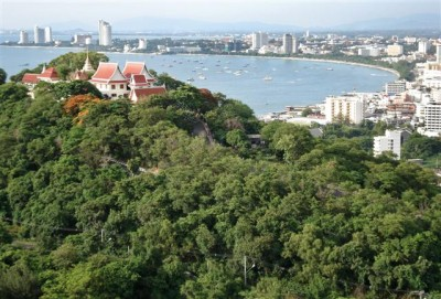 Picture of Pattaya bay over Buddha Hill