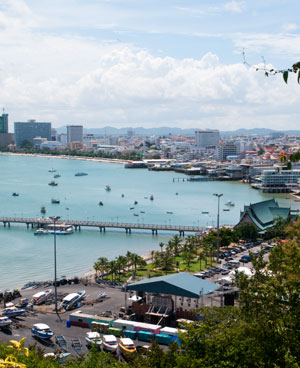 Picture overlooking Pattaya Bay and Bali Hai pier